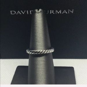 DAVID YURMAN Cable Classic Silver Stacking Ring